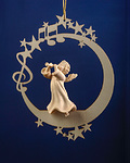 Angel with clarinet on the moon &.stars (08000-D)