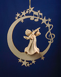 Angel with violin on the moon &.stars (08000-E)