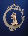 Angel with cymbals on the moon &.stars (08000-I)