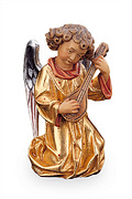 Angel with mandolin with gold dress (10104-OR)