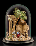 Crib under glass dome (without figures) (10803-G)