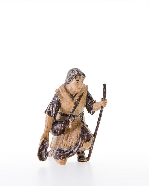 Shepherd kneeling with walking-stick (10000-04) (4,72