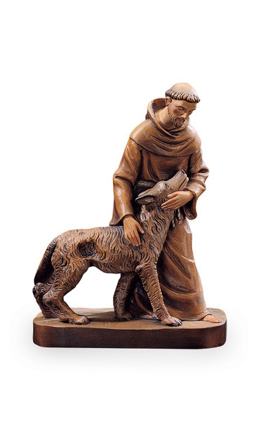 St. Francis with wolf (10035-B) (0,00